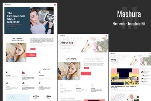ThemeForest - Mashura v1.0 - Portfolio Elementor Template Kit - 26417220