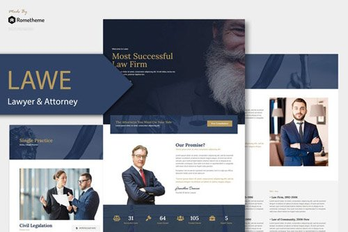 ThemeForest - LAWE v1.0 - Lawyer and Attorney Template Kit - 26505295