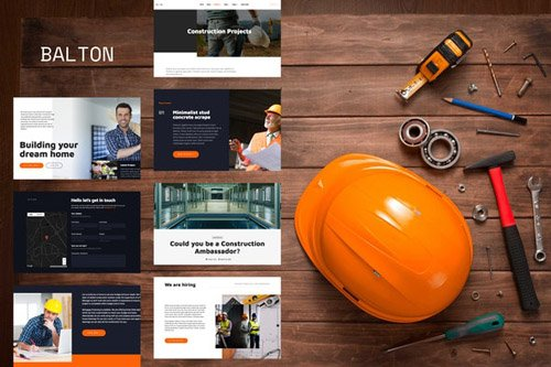 ThemeForest - Balton v1.0 - Construction & Architecture Template Kit (Update: 14 May 20) - 26112365