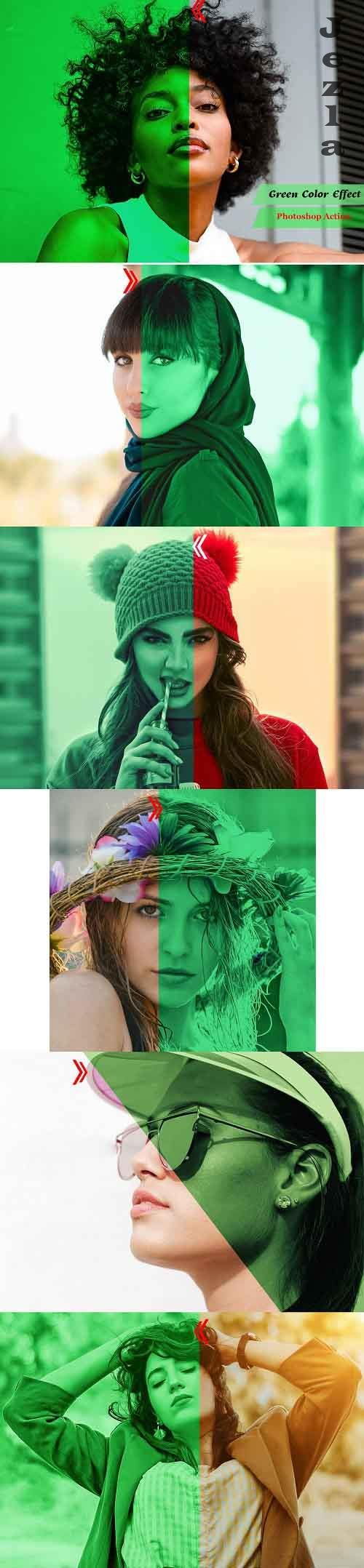 Green Color Effect PHSP Action - 4939667