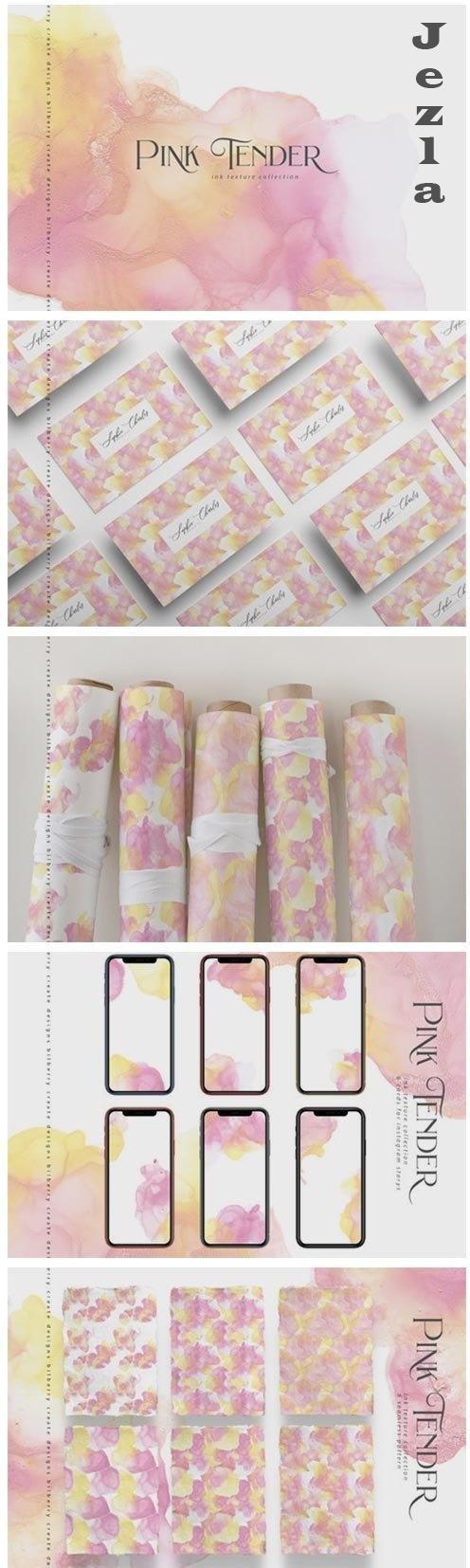 Pink Tender ink texture - 4865150