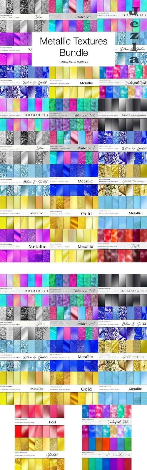 266 Metallic Textures Bundle - 4964246