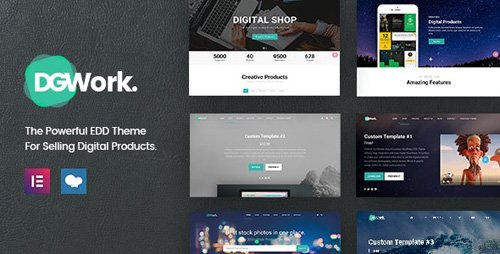 ThemeForest - DGWork v1.8.7 - Responsive Digital Shop & Market Easy Digital Downloads Theme - 18105506 -