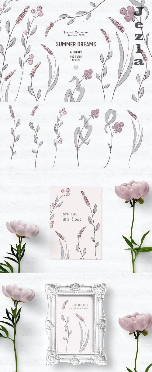 Pink Wildflower clipart - 4970520