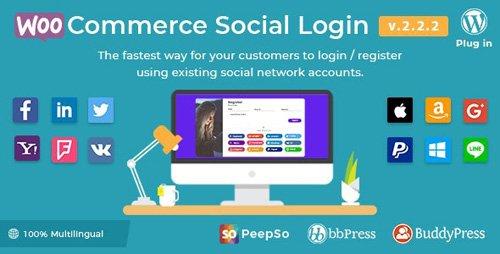 CodeCanyon - WooCommerce Social Login v2.2.2 - WordPress Plugin - 8495883