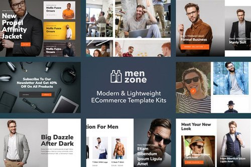 ThemeForest - Menzone v1.0 - Modern eCommerce Template Kit (Update: 14 May 20) - 26328026