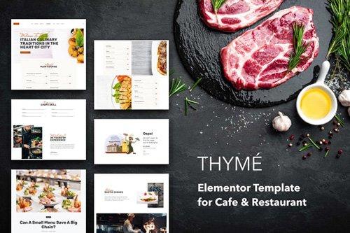 ThemeForest - Thyme v1.0 - Restaurant Cafe Elementor Template Kit (Update: 14 May 20) - 26253721