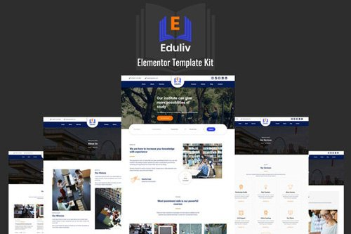 ThemeForest - Eduliv v1.0 - Education Elementor Template Kit (Update: 16 May 20) - 26308223
