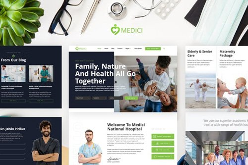 ThemeForest - Medici v1.0 - Hospital & Health Services Template Kit (Update: 14 May 20) - 26195659