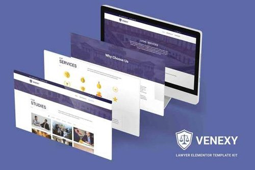 ThemeForest - Venexy v1.0 - Lawyer Elementor Kit - 26070516