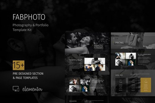 ThemeForest - FabPhoto v1.0 - Photography and Portfolio Template Kit (Update: 8 May 20) - 26380573