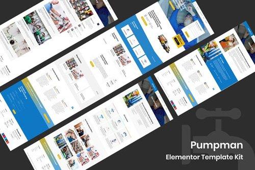 ThemeForest - Pumpman v1.0 - Plumbing Service Elementor Template Kit - 26272569