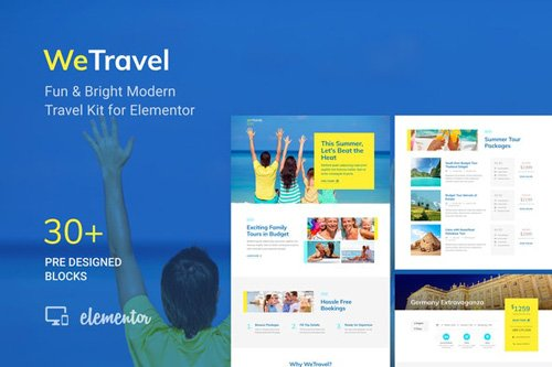 ThemeForest - WeTravel v1.0 - Travel and Tourism Template Kit (Update: 8 May 20) - 26283635