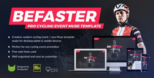 ThemeForest - BeFaster v1.0 - Pro Cycling Mountain Bike Event / Race / Competition Muse Template - 15209590
