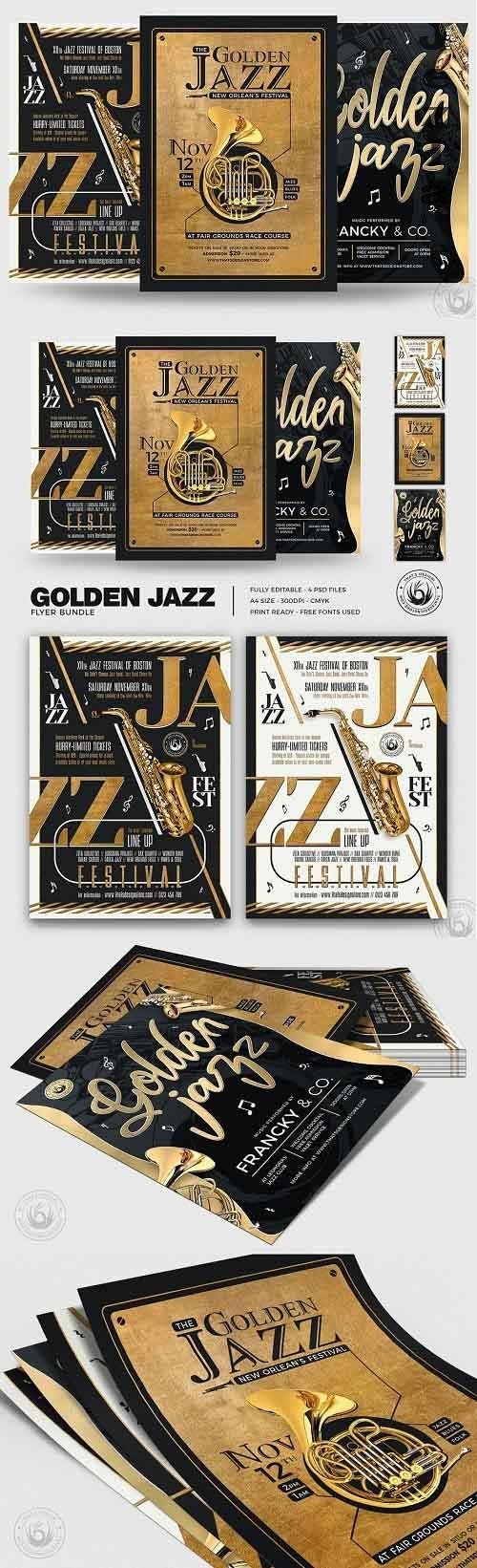 Golden Jazz Flyer Bundle - 4980753