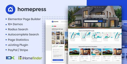 ThemeForest - HomePress v1.1.9 - Real Estate WordPress Theme - 23980909 - NULLED