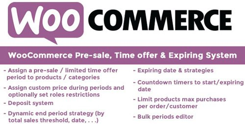 CodeCanyon - WooCommerce Pre-sale, Time offer & Expiring System v9.5 - 13335433 - NULLED