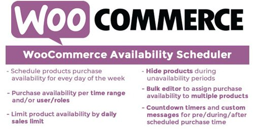 CodeCanyon - WooCommerce Availability Scheduler v10.5 - 11649604 - NULLED