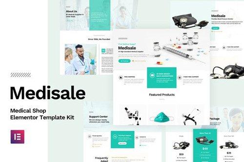 ThemeForest - Medisale v1.0 - Medical Shop Elementor Template Kit - 25904680
