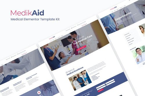 ThemeForest - MedikAid v1.0 - Medical Healthcare Elementor Template Kit - 26320677