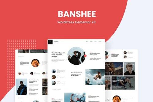 ThemeForest - Banshee v1.0 - News & Magazine WordPress Elementor Template Kit - 26337212