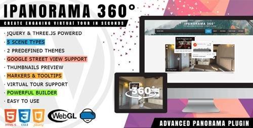 CodeCanyon - iPanorama 360 v1.5.20 - Virtual Tour Builder for WordPress - 17028820