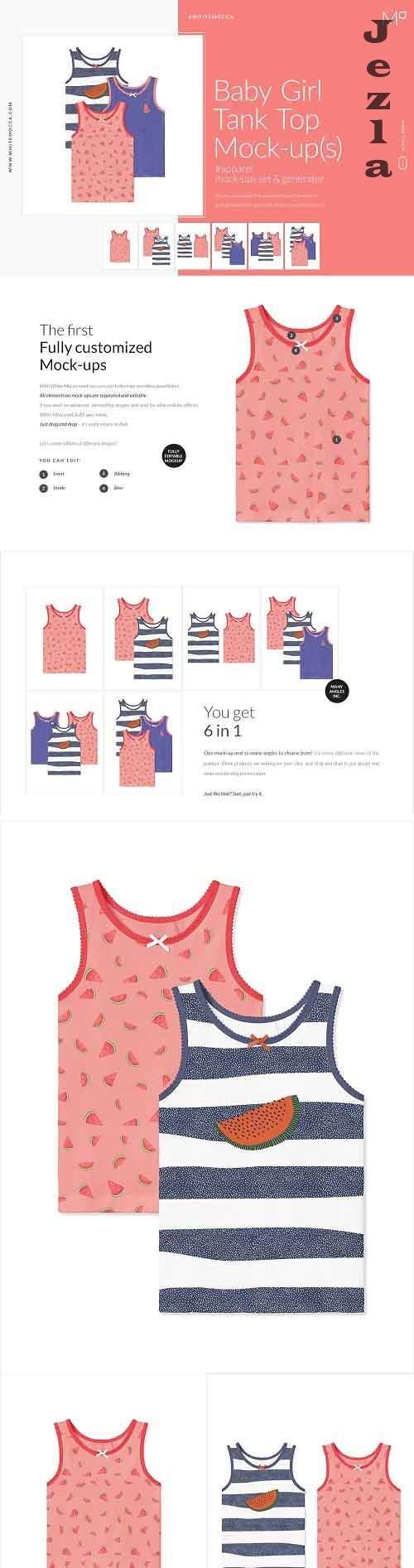 Baby Girl Tank Top Mock-ups Set 4662080