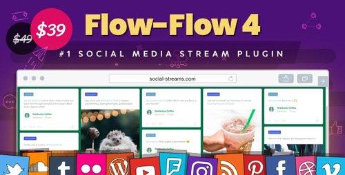 CodeCanyon - Flow-Flow v4.1.32 - Facebook Instagram Twitter Feed - WordPress Social Stream & Grid Gallery Plugin - 9319434