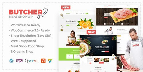 ThemeForest - Butcher v2.19 - Meat Shop WooCommerce WordPress Theme - 18839978