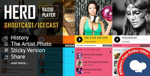 CodeCanyon - Hero - Shoutcast and Icecast Radio Player for WPBakery Page Builder v2.3.0 - 19435685