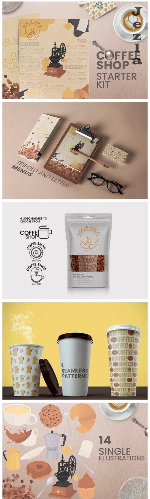 Coffee shop kit - Menus logos MORE! - 4983078