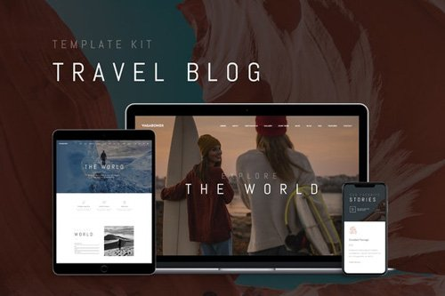 ThemeForest - Vagabonds v1.0 - Travel Blog Template Kit - 26621567