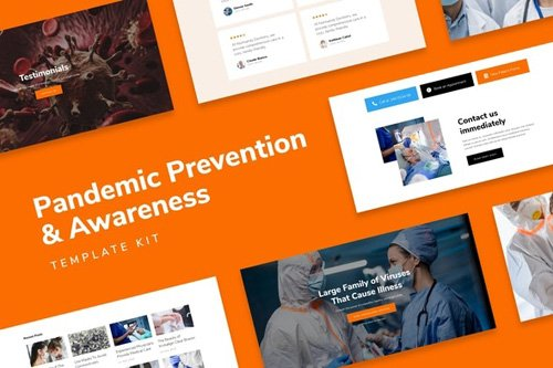 ThemeForest - SafetyKit v1.0 - Pandemic Prevention & Awareness Template Kit - 26798738