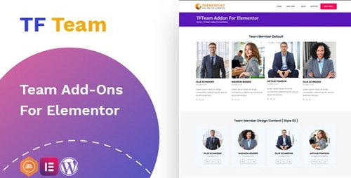CodeCanyon - TfTeam v1.0.1 - Team Member widget For Elementor - 26852049