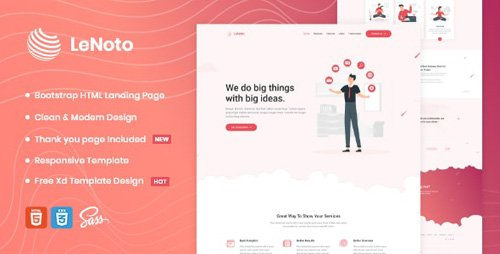 ThemeForest - LeNoto v1.0 - Isometric Business HTML Landing Page - 26290660