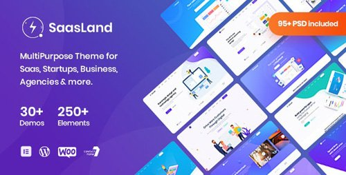 ThemeForest - Saasland v3.1.4 - MultiPurpose WordPress Theme for Startup Business - 23362980