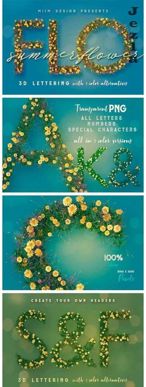 Summer Flower - 3D Lettering - 1691261