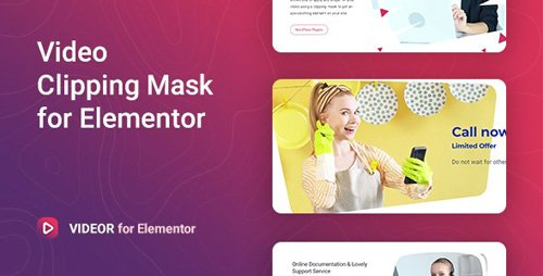 CodeCanyon - Videor v1.0.0 - Video Clipping Mask for Elementor - 26771985
