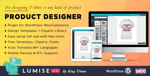 CodeCanyon - Product Designer for WooCommerce WordPress | Lumise v1.9.3 - 21222684