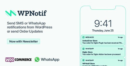 CodeCanyon - WPNotif v2.0.1 - WordPress SMS & WhatsApp Message Notifications - 24045791 - NULLED