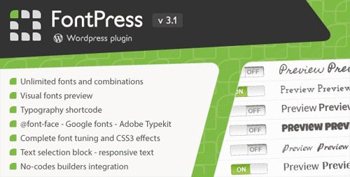 CodeCanyon - FontPress v3.1 - Wordpress Font Manager - 1746759