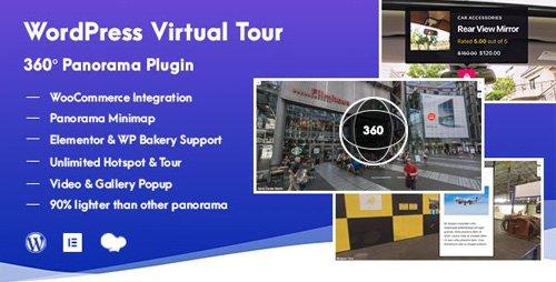 CodeCanyon - WordPress Virtual Tour 360 Panorama Plugin v1.0.2 - 24936734