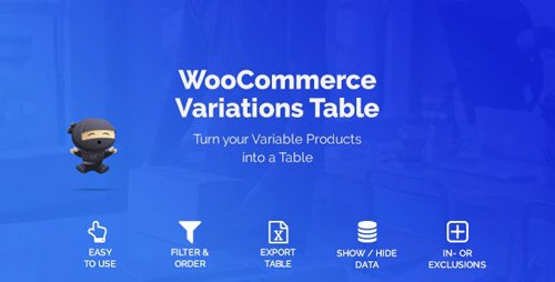 CodeCanyon - WooCommerce Variations Table v1.2.17 - 21414430