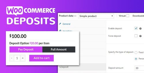 CodeCanyon - WooCommerce Deposits v2.5.36 - Partial Payments Plugin - 9249233