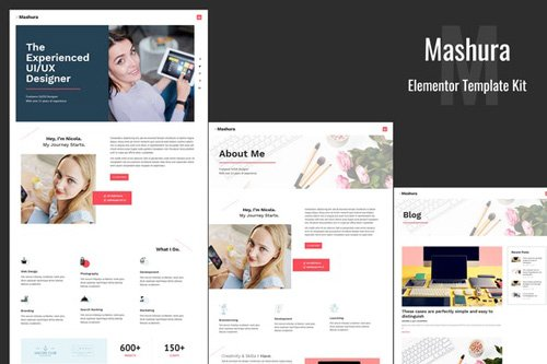 ThemeForest - Mashura v1.0 - Portfolio Elementor Template Kit (Update: 26 May 20) - 26417220