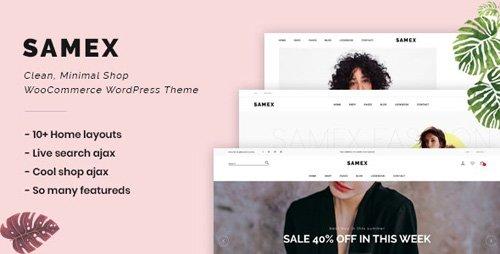 ThemeForest - Samex v1.5 - Clean, Minimal Shop WooCommerce WordPress Theme - 24109197