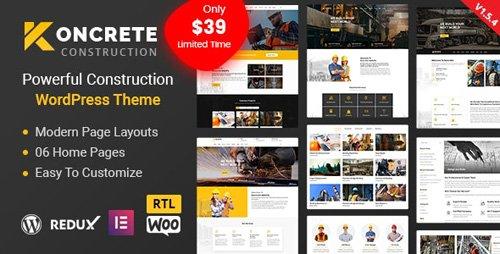 ThemeForest - Koncrete v1.5.5 - Construction Building WordPress Theme - 23751296