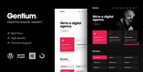 ThemeForest - Gentium v1.1.6 - A Creative Digital Agency WordPress Theme - 23271327