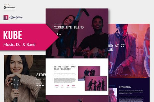 ThemeForest - Kube v1.0 - Music Elementor Template Kit - 26828742