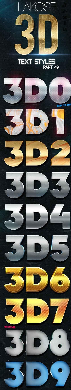 Lakose 3D Text Styles Part 49 26413006